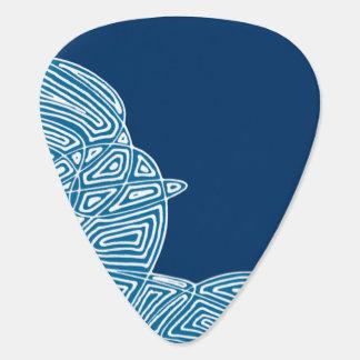 Mörk - blå himmel gitarr pick
