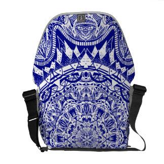 Mörk - blåttMehndi Mandala Kurir Väskor