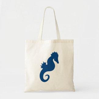 Mörk - blåttSeahorseSilhouette Tygkasse