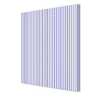 Mörk - blåttvitstreck canvastryck