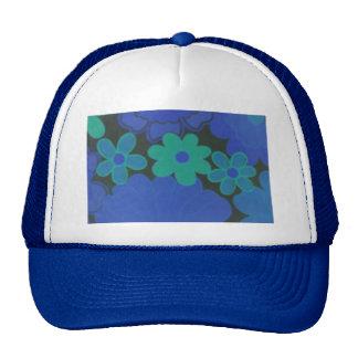 Mörk blomma för Retro 70-tal hatt Keps