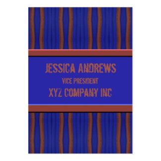 Mörk - brun retro bekymrad linjer för blått visitkort mall