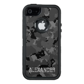 Mörk Camo känd mall OtterBox Defender iPhone Skal
