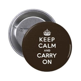 Mörk choklad - brun behållalugn och bär på standard knapp rund 5.7 cm