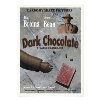 Mörk chokladfilm anpassade inbjudan