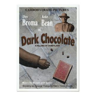 Mörk chokladfilm 12,7 x 17,8 cm inbjudningskort