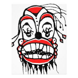 Mörk clownteckning brevhuvud