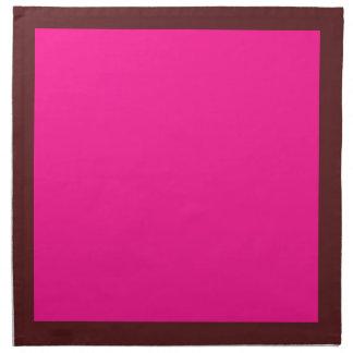 Mörk Cranberry och djupt - rosa servetter