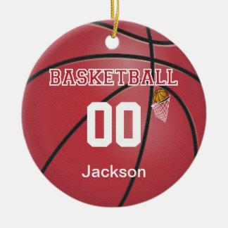 Mörk - det röda namn för basket | DIY & numrerar Julgransprydnad Keramik