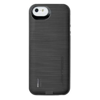 mörk elegant perforerad metallpersonlig vid namn iPhone SE/5/5s batteri skal