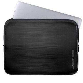 mörk elegant perforerad metallpersonlig vid namn laptop fodral