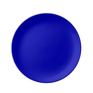 Mörk - fast färg för blått porslinstallrik