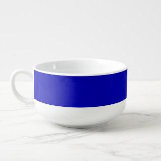 Mörk - fast färg för blått soppmugg