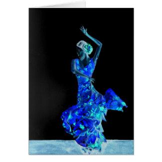 Mörk Flamenco. Hälsningskort