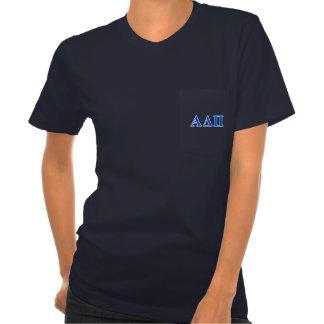 Mörk för alfabetiskdeltaPi - blåttbrev Tee Shirt
