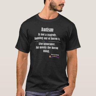 mörk för autismbacontragedi beklär logotypen t-shirts