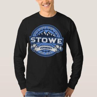 Mörk för Stowe logotypblått T-shirt