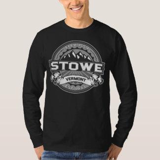 Mörk för Stowe logotypgrå färg T-shirt