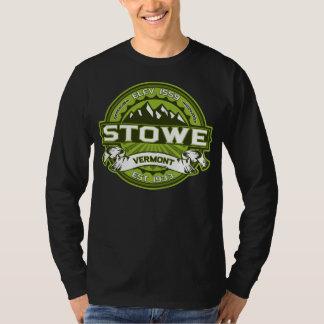 Mörk för Stowe logotypgrönt T-shirts