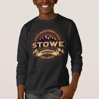 Mörk för Stowe logotypSepia T Shirt