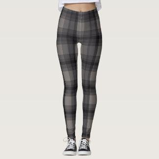 Mörk - grå pläd leggings