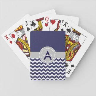 Mörk - grå sparre för blått spelkort