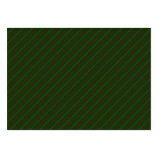 Mörk - grön diagonal randig modell set av breda visitkort