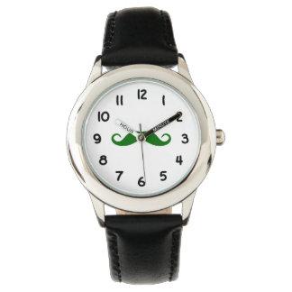 Mörk - grön Moustache Armbandsur
