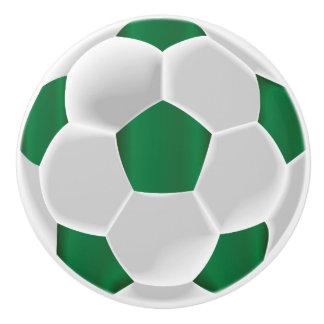 Mörk - grönt- och vitfotbollboll/fotboll knopp