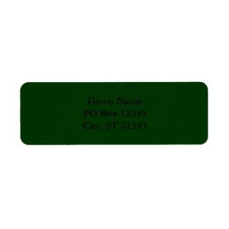 Mörk - grönt returadress etikett
