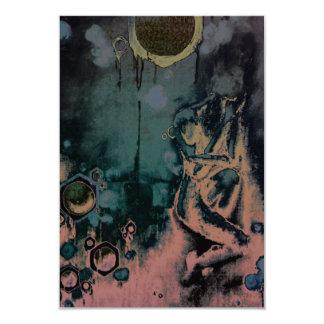 mörk koma 8,9 x 12,7 cm inbjudningskort