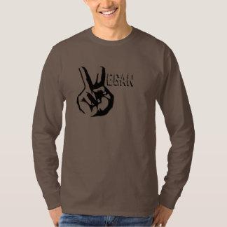 Mörk långärmad T för Veganfred Tee Shirt