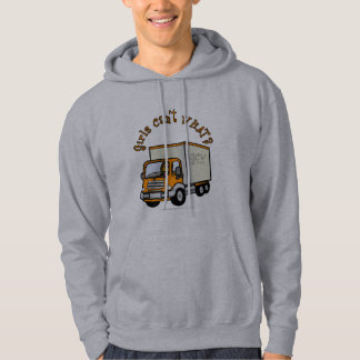 Mörk lastbilsförareflicka sweatshirt