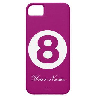 Mörk magenta numrerar fodral åtta iPhone 5 Case-Mate fodraler