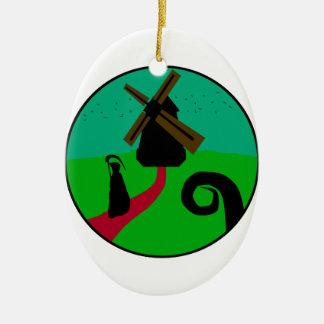 Mörk mal julgransprydnad keramik