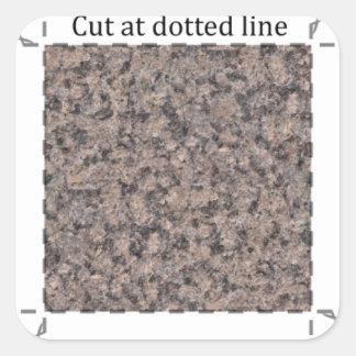 Mörk marmor 1-Flytta sig mycket långsamt dekal Fyrkantigt Klistermärke