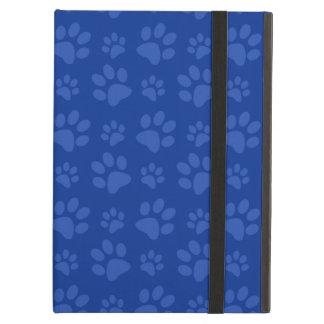 Mörk - mönster för tryck för blåtthundtass fodral för iPad air