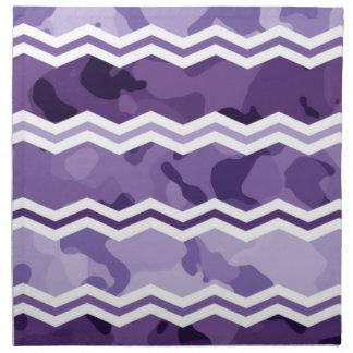 Mörk och purpurfärgad Camo för ljus lavendel Tygservett