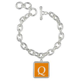Mörk - orange färg för gåva en berlockarmband