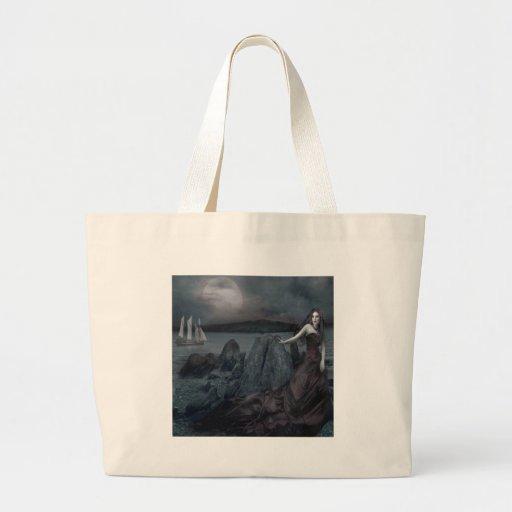 Mörk Princess Hav Stötta för abstrakt fantasi Tote Bags