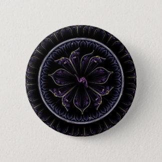 mörk purpurfärgad fractal standard knapp rund 5.7 cm