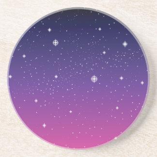 Mörk purpurfärgad himmel för Starry natt Underlägg Sandsten