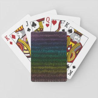 Mörk regnbåge som leker kort spel kort