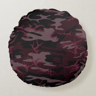 Mörk - röd Camo dekorativ kudde Rund Kudde