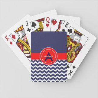Mörk - röd sparre för blått spelkort