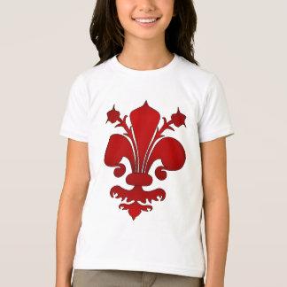 Mörk - rött fleur de lis symbol t-shirts