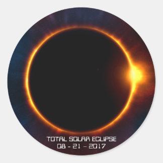 Mörk sol- klistermärke för förmörkelse 2017