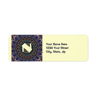 Mörk TapestryKaleidoscope Returadress Etikett