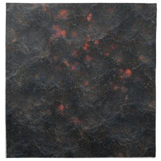 Mörk vulkanisk bakgrund för askamönsterstruktur tygservett