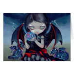 """""""Mörka Dragonling"""" hälsningkort Hälsnings Kort"""
